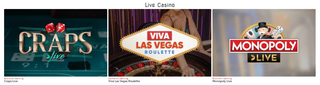 Lucky31 Casino Live Games