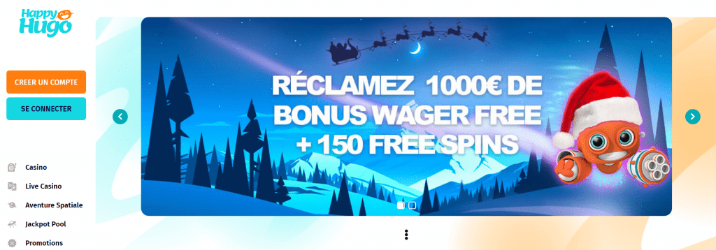Happy Hugo Casino Welcome Bonus