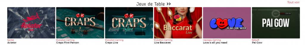 Live Casinos on Lucy31